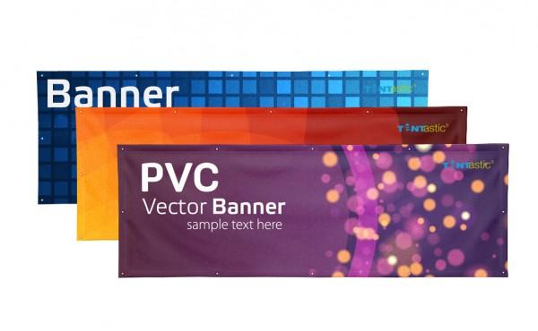Tentastic PVC Werbebanner in vielen Größen. Lichtecht und mit Ösen alle 50 cm