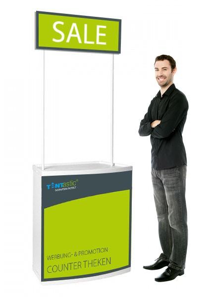 Tentastic Counter Theke Promo, mit Schild und Bedruckung, zu Faltpavillon & Pavillon