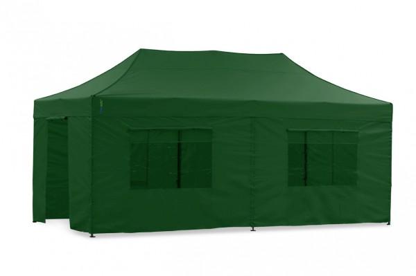 Faltzelt Seitenteil-Set 3x6m Grün - für Faltpavillon & Pavillon Polyester
