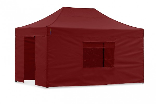 Seitenwand-Set PVC Rot 4x6m für Tentastic Faltzelt