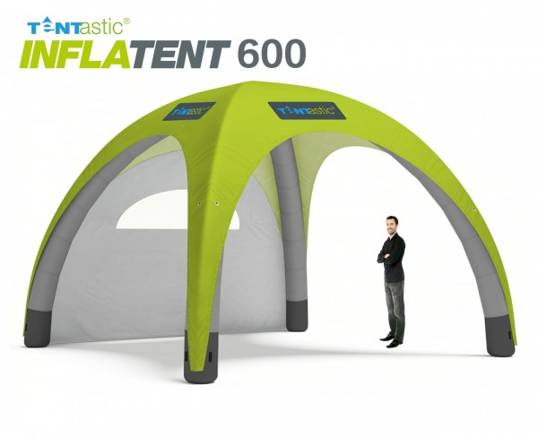 Tentastic Inflatent 600 - aufblasbares Zelt, individuell bedruckbar mit leuchtenden, lichtechten Farben