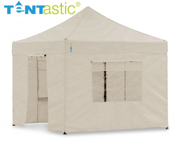 Light-Pavillon-Set - Faltzelt 3x3 m Sand