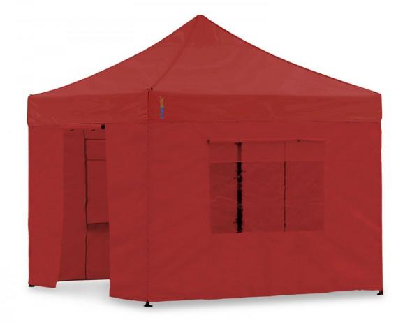 Seitenwand-Set Rot PVC 3x3m für Tentastic Faltpavillon