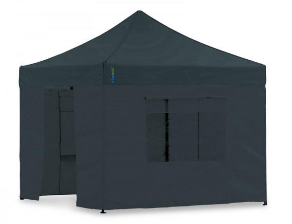 Seitenwand-Set Schwarz PVC 3x3m für Tentastic Faltpavillon