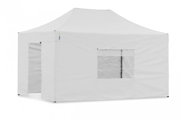 Seitenwand-Set Weiss PVC 3x4,5m für Tentastic Faltpavillon