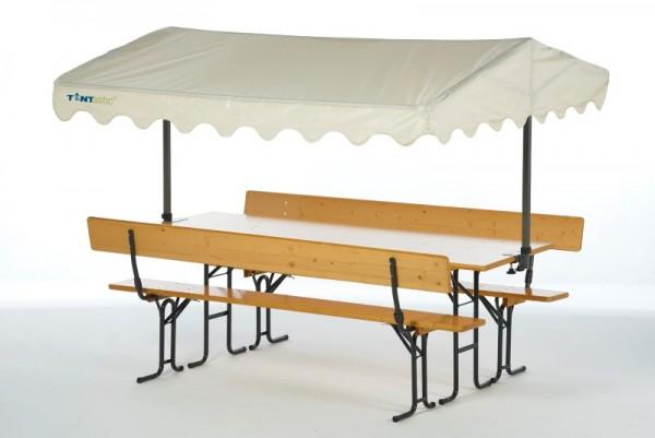 Tentastic Bierbank-Überdachung Solakite 220 Sand, der Sonnenschutz für Ihre Standard-Biergarnitur