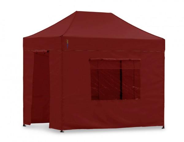 Seitenwand-Set Rot 2x3m für Tentastic Faltpavillon Polyester