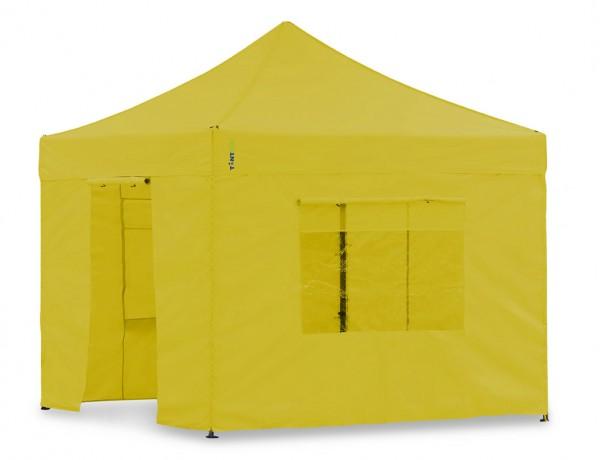 Seitenwand-Set Gelb 3x3m für Tentastic Faltpavillon Polyester