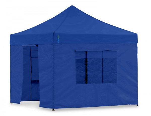 Seitenwand-Set Blau 3x3m Polyester für Tentastic Faltpavillon