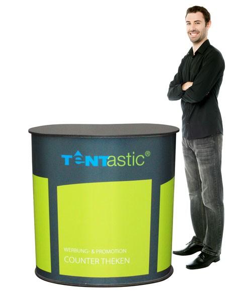 Tentastic Counter Theke Professional, für Messen und Verkauf, der Tresen mit Stauraum und Digitaldruck