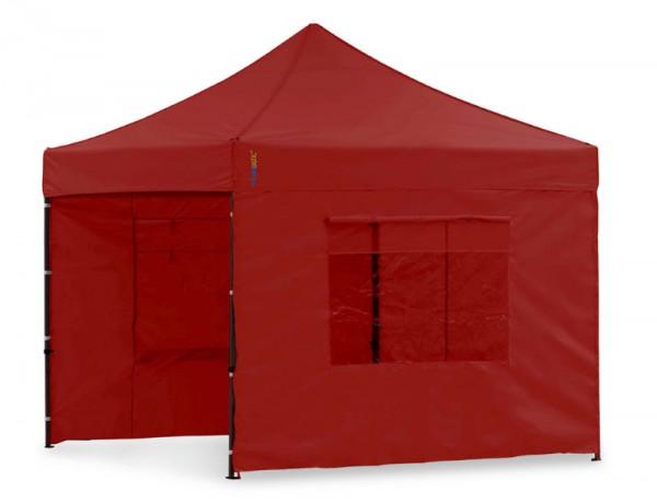Seitenwand-Set PVC Rot 4x4m für Tentastic Faltpavillion