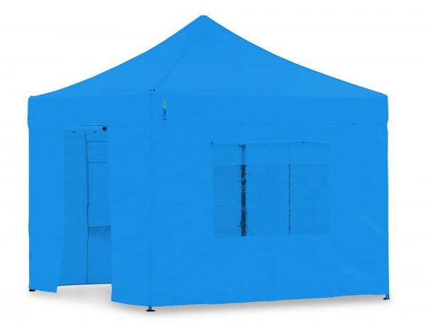 Seitenwand-Set Cyan PVC 3x4,5m für Tentastic Faltpavillon