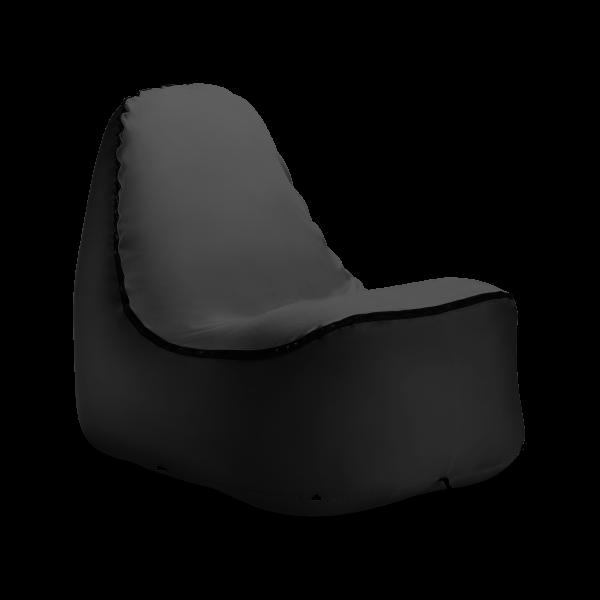 TRONO Chair Schwarz  mit grauem Überzug