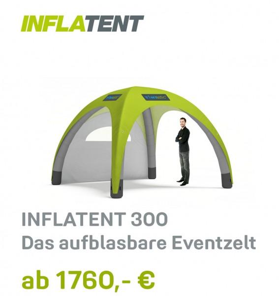 Tentastic Inflatent 300 Zelt, aufblasbar, mit individuellem Digitaldruck für Messen und Events