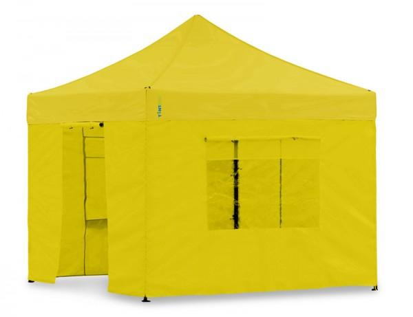 Seitenwand-Set Gelb 4x4m für Tentastic Faltpavillon Polyester