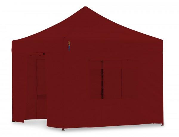 Seitenwand-Set PVC Weinrot 4x4m für Tentastic Faltpavillion