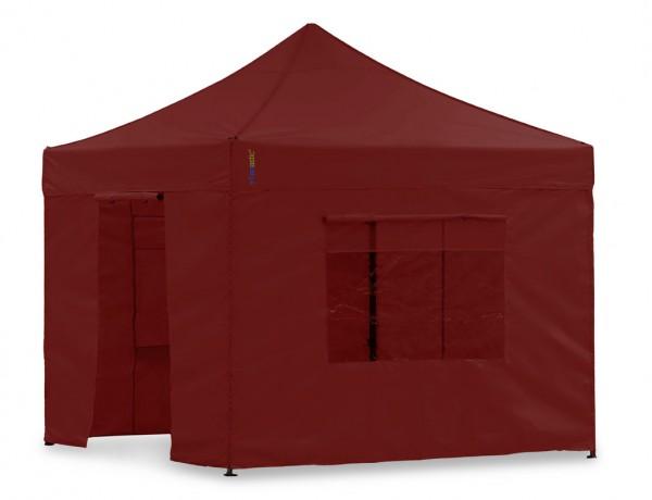 Seitenwand-Set Rot 3x3m für Tentastic Faltpavillon Polyester
