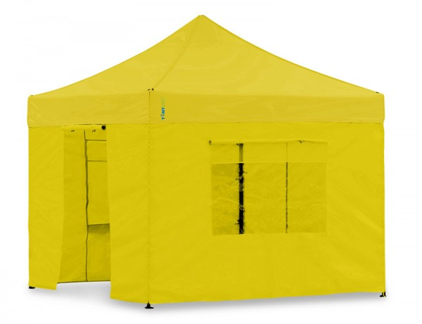 Seitenwand-Set PVC Gelb 4x4m für Tentastic Faltpavillion