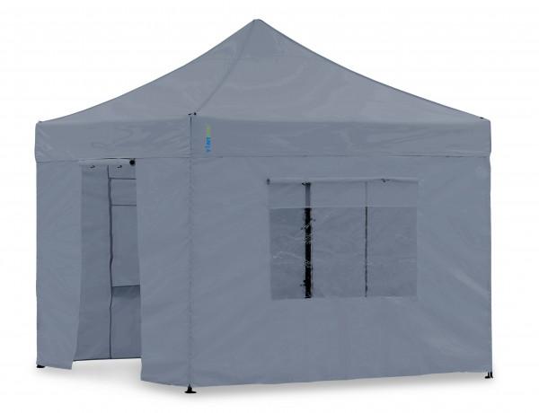 Seitenwand-Set Grau 4x4m für Tentastic Faltpavillon Polyester