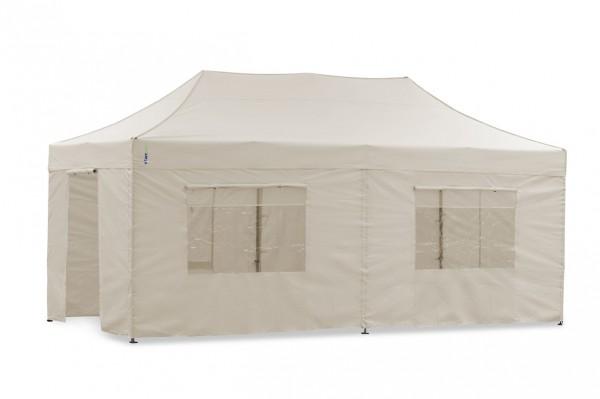 Tentastic Faltzelt Seitenteil-Set 3x6 m Sand - passend für Faltpavillon u. Pavillon Polyester