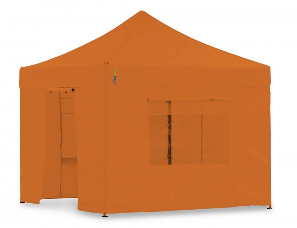 Seitenwand-Set PVC Orange 4x4m für Tentastic Faltpavillion