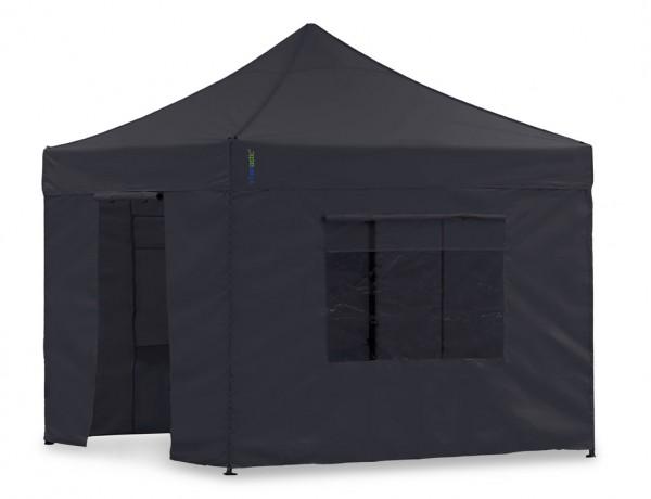 Seitenwand-Set Schwarz 2,3x2,3m für Tentastic Faltpavillon Polyester