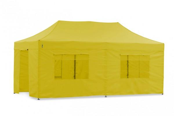 Tentastic Faltzelt Seitenteil-Set 3x6 m Gelb, für Polyester Faltpavillon & Pavillon