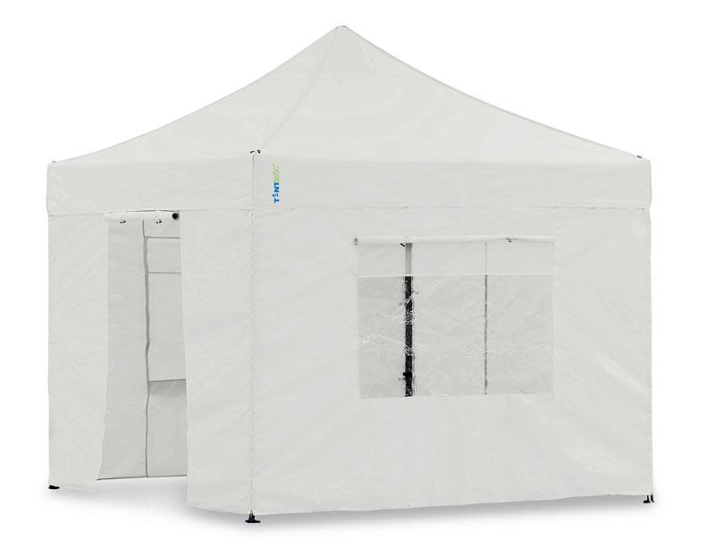 seitenteil set 3x3 meter weiss f r tentastic faltzelt oder faltpavillon. Black Bedroom Furniture Sets. Home Design Ideas