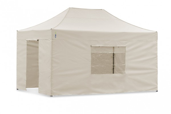Seitenwand-Set Sand 3x4,5m für Tentastic Faltpavillon Polyester