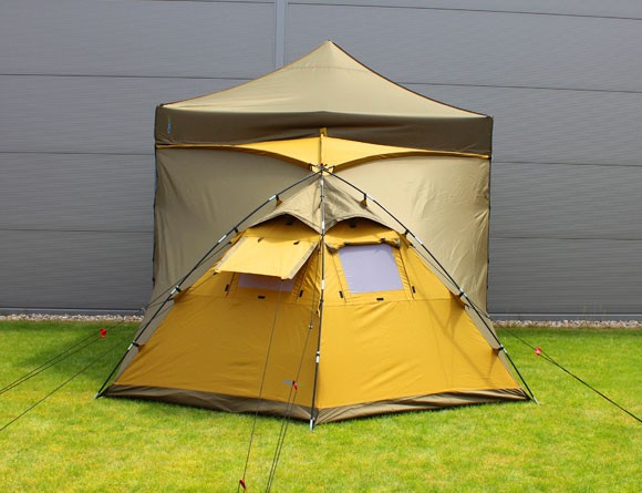Tentastic MaximumHome Camping Zelt - maximaler Platz kombiniert mit einem Faltzelt / Faltpavillon