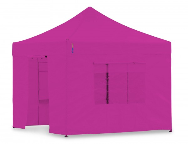 Seitenwand-Set PVC Magenta 4x4m für Tentastic Faltpavillion
