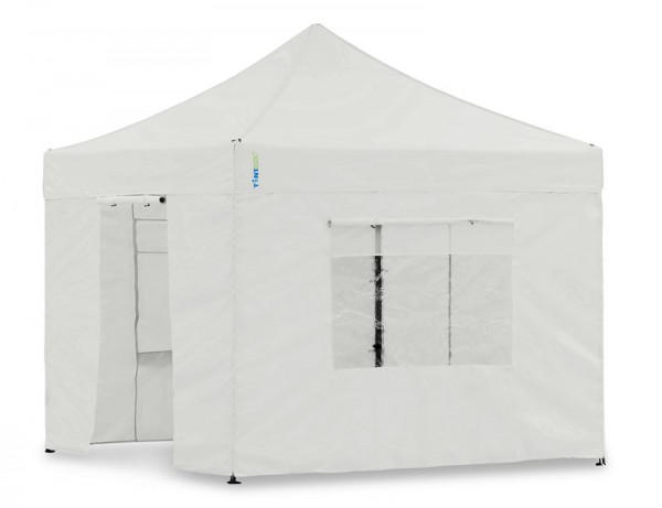 Seitenwand-Set Weiss PVC 3x3m für Tentastic Faltpavillon