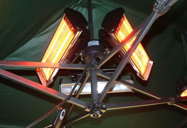 Infarot-Heizstrahler 3000 Watt für Faltzelt