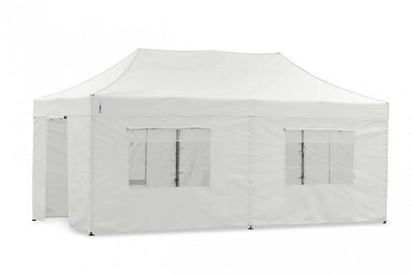 Seitenwand-Set PVC Weiss 3x6m für Tentastic Faltpavillion