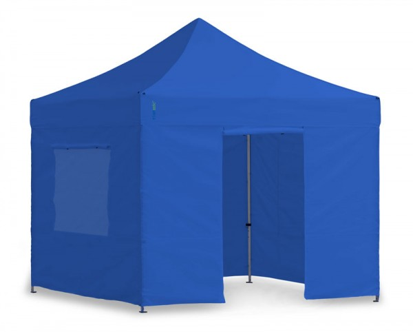 Light-Pavillon-Set - Faltzelt 3x3m Blau