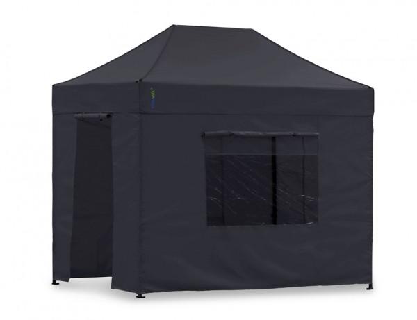 Seitenwand-Set Schwarz 2x3m für Tentastic Faltpavillon Polyester
