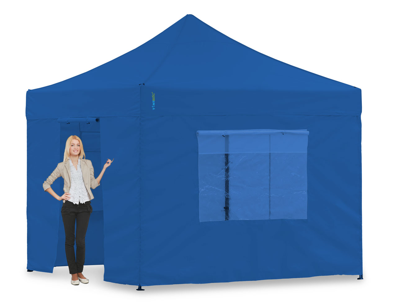versandkostenfrei wasserdichtes faltzelt 3x3 blau tentastic light pavillon komplett set blau. Black Bedroom Furniture Sets. Home Design Ideas