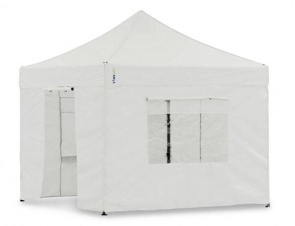 Seitenwand-Set Weiss 3x3m für Tentastic Faltpavillon Polyester