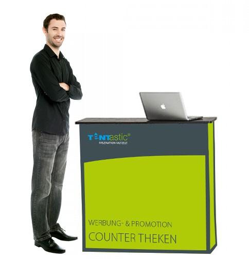 Tentastic Counter Theke Classic, für Faltzelt oder Pavillon, Stoffbezug mit Digitaldruck