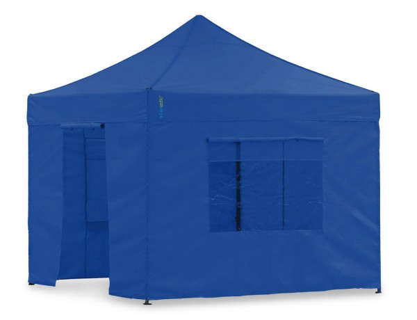 Seitenwand-Set Weiss PVC 4 x 4m für Tentastic Faltpavillon