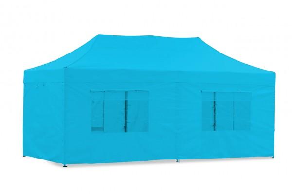 Seitenwand-Set PVC Cyan 3x6m für Tentastic Faltpavillion