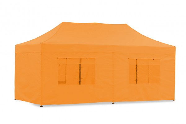 Seitenwand-Set PVC Orange 3x6m für Tentastic Faltpavillion