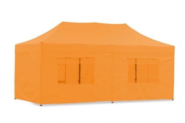 Seitenwand-Set Orange PVC 4x8m für Tentastic Faltpavillion