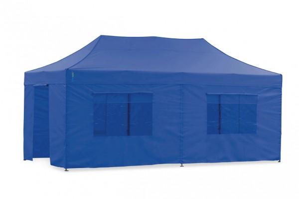 Tentastic Faltpavillon Seitenteil-Set 3x6m Blau, für Faltpavillon & Pavillon Polyester