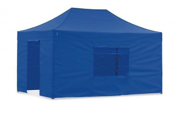 Seitenwand-Set Blau 3x4,5m für Tentastic Faltpavillon Polyester