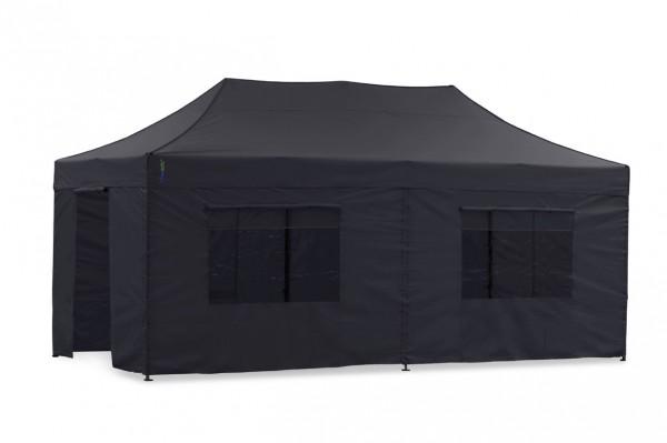 Seitenwand-Set Schwarz PVC 4x8m für Tentastic Faltpavillion