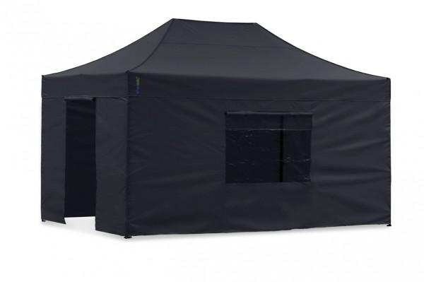 Seitenwand-Set Schwarz 4x6m für Tentastic Faltpavillon Polyester