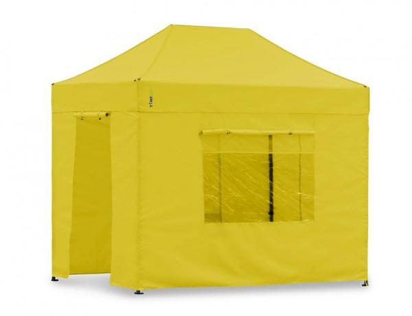 Seitenwand-Set Gelb 2x3m für Tentastic Faltpavillon Polyester