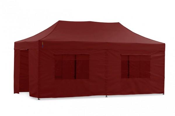 Tentastic Faltzelt Seitenteil-Set 3x6 m Rot, passend zu Faltpavillon & Pavillon Polyester