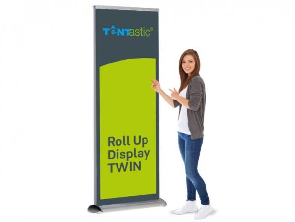 Tentastic Roll Up Display Twin - Das beidseitig bedruckte Roll Up für Messe und Präsentationen